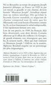 L'Etrange Monsieur Joseph - 4ème de couverture - Format classique
