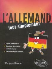 L'allemand tout simplement lecons thematiques chapitres de revision 2 mini-lexiques exercices & jeux - Intérieur - Format classique