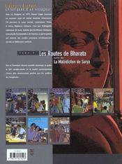 Stéphane Clément, chroniques d'un voyageur t.4 ; les routes de Bharata, la malédiction de Surya - 4ème de couverture - Format classique