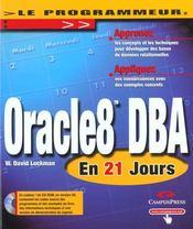 Oracle 8 Dba En 21 Jours - Intérieur - Format classique