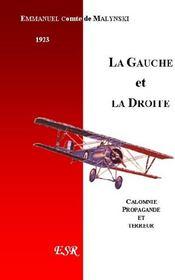 La Gauche Et La Droite - Couverture - Format classique