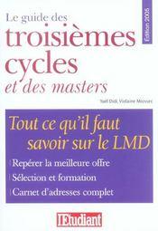 Le Guide Des Troisièmes Cycles Et Des Masters - Intérieur - Format classique