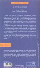 Le mythe du heros france et italie apres la chute de napoleon - 4ème de couverture - Format classique