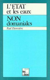 L'etat et les eaux non domaniales - Couverture - Format classique