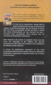 La gande histoire de france et des francais - 4ème de couverture - Format classique