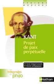Projet de paix, de Kant - Couverture - Format classique