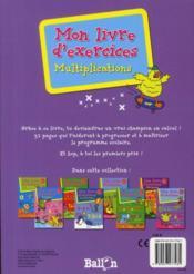 Multiplications 8-9 ans - 4ème de couverture - Format classique