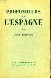 Profondeurs De L Espagne. - Couverture - Format classique