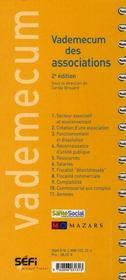 VADEMECUM ; vademecum des associations (2e édition) - 4ème de couverture - Format classique