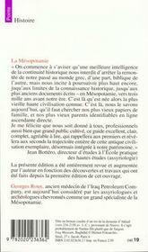 La mesopotamie - 4ème de couverture - Format classique