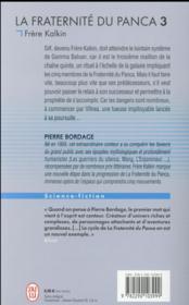 La fraternité du Panca T.3 ; frère Kalkin - 4ème de couverture - Format classique