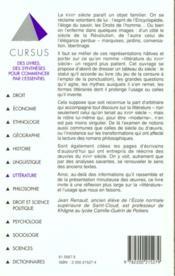 La littérature française du XVIIIe siècle - 4ème de couverture - Format classique