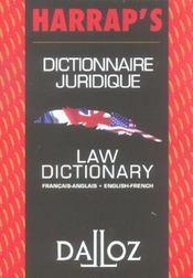 Dictionnaire juridique francais-anglais - Intérieur - Format classique
