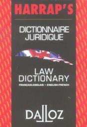 Dictionnaire juridique francais-anglais - Couverture - Format classique