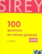 100 questions culture générale ; QCM (2e édition) - Intérieur - Format classique