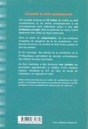 L'essentiel du droit constitutionnel ; fiches de cours et cas pratiques corrigés - 4ème de couverture - Format classique