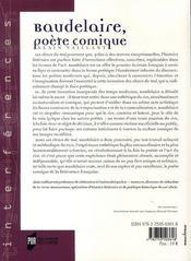 Baudelaire, poète comique - 4ème de couverture - Format classique