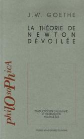 La théorie de Newton dévoilée - Couverture - Format classique