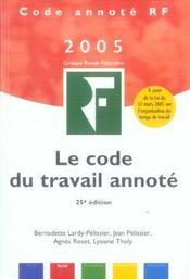 Le code du travail annoté - Intérieur - Format classique