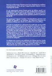 Les cahiers de l'insep, n 30. dopage et societe sportive - 4ème de couverture - Format classique