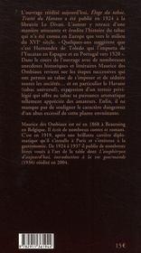 L'éloge du tabac ; traité du havane - 4ème de couverture - Format classique