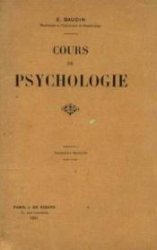 Cours de psychologie - Couverture - Format classique