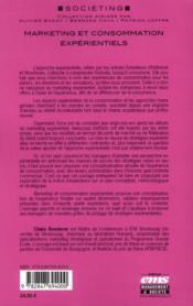 Marketing et consommation expérientiels - 4ème de couverture - Format classique