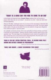 Peace Is The Way - Bringing War And Violence To An End - 4ème de couverture - Format classique