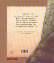 Un petit chaperon rouge - 4ème de couverture - Format classique