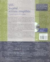 SAS, société par actions simplifiées ; création, gestion, évolution (5e édition) - 4ème de couverture - Format classique