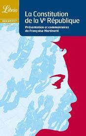 La constitution de la V République - Couverture - Format classique