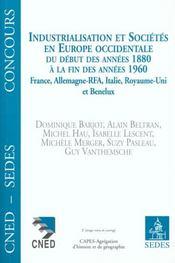 Industrialisation Et Societes De L'Europe - Intérieur - Format classique