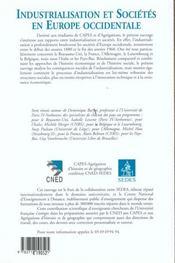 Industrialisation Et Societes De L'Europe - 4ème de couverture - Format classique