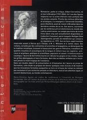 Gilbert sorrentino ; une éxubérante noirceur - 4ème de couverture - Format classique