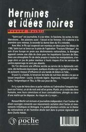 Hermines et idees noires - 4ème de couverture - Format classique