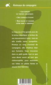 Tortues Aquatiques - 4ème de couverture - Format classique
