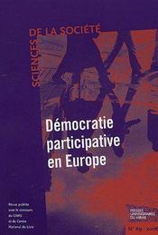Démocratie participative en Europe - Couverture - Format classique