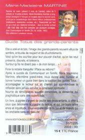 Guide Totus - Des Grands-Parents - 4ème de couverture - Format classique