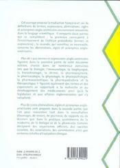 Glossaire Medico Pharmaceutique Anglais Francais 2eme Edition 2002 - 4ème de couverture - Format classique