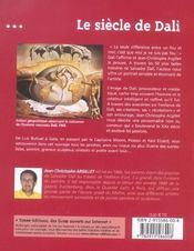 Le siecle de Dali - 4ème de couverture - Format classique