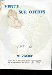 Vente Sur Offres - 7 Mai 1973 - Couverture - Format classique