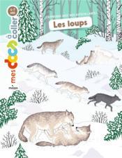 Les loups ; autocollants - Couverture - Format classique