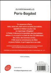 Paris Bagdad - 4ème de couverture - Format classique