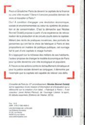 Fabriquer à Paris ; manifeste pour une ville écologique et populaire - 4ème de couverture - Format classique