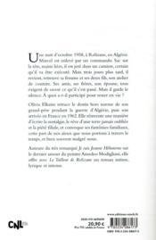 Le tailleur de Relizane - 4ème de couverture - Format classique