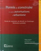 Permis de construire et autres autorisations d'urbanisme - Intérieur - Format classique