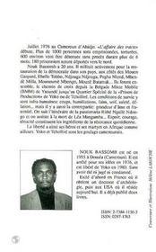 Quartier Special. Detenu Sans Proces Au Cameroun - 4ème de couverture - Format classique