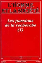 Les Passions De La Recherche - Couverture - Format classique
