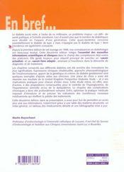 Diabetologie clinique - 4ème de couverture - Format classique