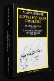 Oeuvres poétiques complètes - Couverture - Format classique